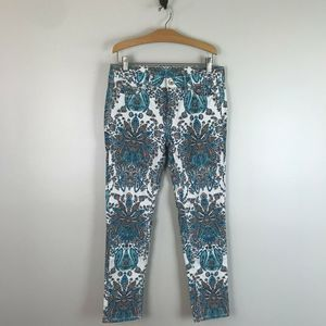 JCPenney's Paisley Printed Skinny Ankle Jeans